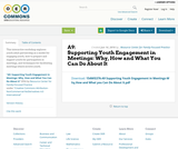 A9: Supporting Youth Engagement in Meetings: Why, How and What You Can Do About It