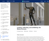 Looting, collecting, and exhibiting: the Bubon bronzes