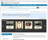America Singing: Nineteenth-Century Song Sheets