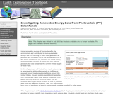 Investigating Renewable Energy Data from Photovoltaic (PV) Solar Panels