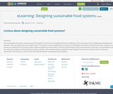 eLearning: Designing sustainable food systems