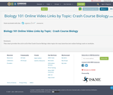 Biology 101 Online Video Links by Topic:  Crash Course Biology