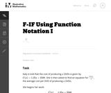 Using Function Notation I