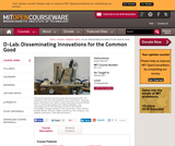 D-Lab: Disseminating Innovations for the Common Good, Spring 2007