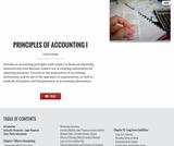 Principles of Accounting I