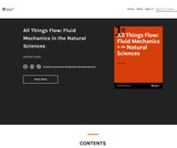 All Things Flow: Fluid Mechanics in the Natural Sciences