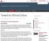 Toward an Ethical Culture
