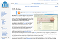 Web design at Wikiversity