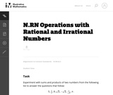 Operations with Rational and Irrational Numbers