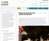 Mapping Earthquakes to Save the World