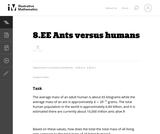 Ants versus humans