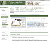 Using PhET Simulations in a Large Lecture Class: The Photoelectric Effect