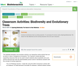 Biodiversity and Evolutionary Trees