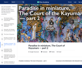 Paradise in miniature, The Court of Kayumars — part 2