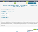 The Argumentative Research Project: Writing the thesis and introduction - Remix4