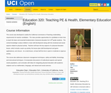Education 320: Teaching PE & Health, Elementary Education (English)