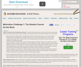 Motivation Challenge 1: The Student Cannot Do the Work