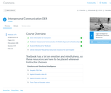 Canvas Commons Interpersonal Communication Course
