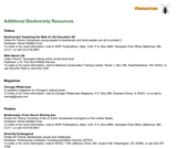 Biodiversity Multimedia Resources
