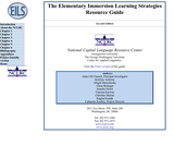 Learning Strategies Resource Guide for Elementary Immersion Language Teachers