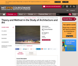 Theory and Method in the Study of Architecture and Art, Fall 2015