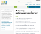 Mathematizing Storytimes: Comparisons (more than and less than) storytime lesson plan