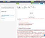 Project Based Learning-Weather