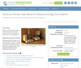 Watt Meters to Measure Energy Consumption