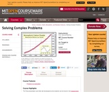 Solving Complex Problems, Fall 2009