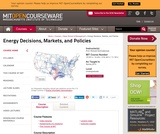 Energy Decisions, Markets, and Policies, Spring 2012