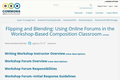 Flipping and Blending: Using Online Forums in the Workshop-Based Composition Classroom