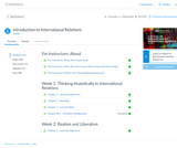 Canvas Course Shell for Introduction to International Relations