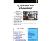 The Joseph Bellamy House: The Great Awakening in Puritan New England
