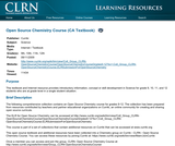 Open Source Chemistry Course (CA Textbook)
