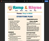 Romp & Rhyme Storytime Lesson Plan: They're Wild!