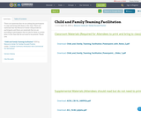 Child and Family Teaming Facilitation