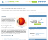 Biomedical Devices for the Eyes
