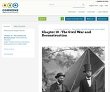 Chapter 10 - The Civil War and Reconstruction