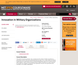 Innovation in Military Organizations, Fall 2005