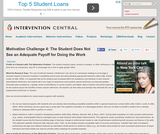 Motivation Challenge 4: Student Does Not See an Adequate Payoff for Doing the Work