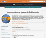 Automotive General Services Technician Model