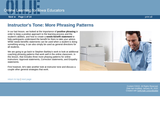 Instructor's Tone: More Phrasing Patterns