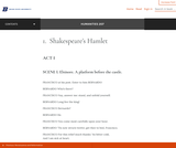 Shakespeare's Hamlet – Introduction to Humanities