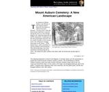 Mount Auburn Cemetery: A New American Landscape