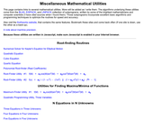 Numerical Mathematical Utilities