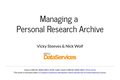 Managing a Personal Research Archive