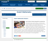 Grade 5 Module 6:Problem Solving with the Coordinate Plane