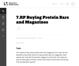 Buying Protein Bars and Magazines
