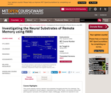 Investigating the Neural Substrates of Remote Memory using fMRI, Spring 2003