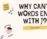 Why Can't Words End With J? A Phonics Lesson on -dge